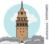 galata tower vector.   Shutterstock .eps vector #549996892