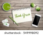 think green word on blank... | Shutterstock .eps vector #549998092
