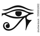 eye of horus egypt deity icon.... | Shutterstock .eps vector #550001002
