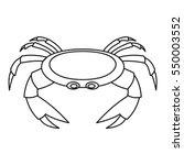 crab sea animal icon. outline...   Shutterstock .eps vector #550003552