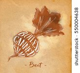 poster beet cutting scheme... | Shutterstock .eps vector #550004638