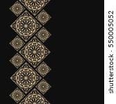 golden frame in oriental style. ... | Shutterstock .eps vector #550005052