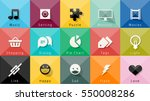 icons vector collection.... | Shutterstock .eps vector #550008286