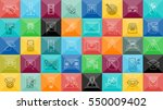 thin lines icons set with... | Shutterstock .eps vector #550009402