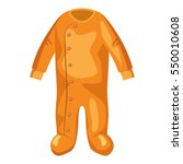 jumpsuit for baby icon. cartoon ... | Shutterstock . vector #550010608
