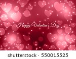 writing happy valentine's day... | Shutterstock . vector #550015525
