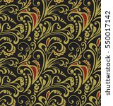 seamless pattern. vintage style ... | Shutterstock .eps vector #550017142