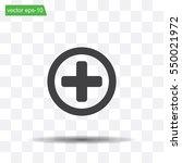 medical cross icon | Shutterstock .eps vector #550021972