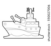 battleship icon. outline... | Shutterstock . vector #550027006