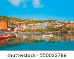 alanya marina and red tower ... | Shutterstock . vector #550033786