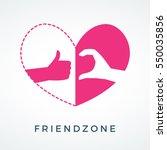 friendzone logo with half of...   Shutterstock .eps vector #550035856