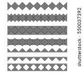 a set of horizontally seamless... | Shutterstock .eps vector #550037392