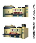 rendering of a cinema building. ... | Shutterstock . vector #550037896
