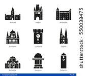 european capitals  part 4   ... | Shutterstock .eps vector #550038475