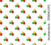 baby cubes pattern. cartoon... | Shutterstock . vector #550041592