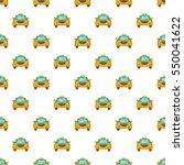 taxi pattern. cartoon... | Shutterstock . vector #550041622