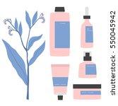 simple cartoon cosmetics set.... | Shutterstock .eps vector #550045942
