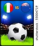 italy versus new zealand on... | Shutterstock .eps vector #55004719