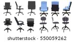 desk chair front back side... | Shutterstock .eps vector #550059262