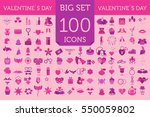 valentine's day icon set.... | Shutterstock .eps vector #550059802