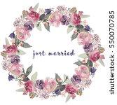 watercolor floral illustration  ... | Shutterstock . vector #550070785