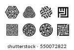 labyrinth symbol collection.... | Shutterstock .eps vector #550072822