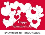 valentine's day card that says... | Shutterstock . vector #550076008