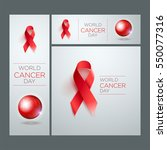 world cancer day awareness... | Shutterstock .eps vector #550077316