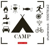camping icons   Shutterstock .eps vector #550078162