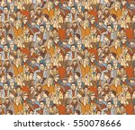 crowd people color seamless...   Shutterstock .eps vector #550078666