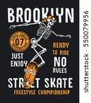 skateboard illustration with... | Shutterstock .eps vector #550079956