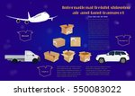 international freight shipping... | Shutterstock .eps vector #550083022