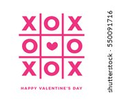 xoxo pink with heart in the... | Shutterstock .eps vector #550091716