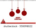 toy  christmas greeting vector... | Shutterstock .eps vector #550098022