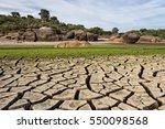 dry lagoon. photograph taken in ... | Shutterstock . vector #550098568