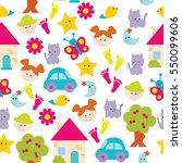seamless baby background | Shutterstock .eps vector #550099606