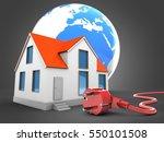 3d illustration of house over... | Shutterstock . vector #550101508