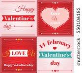 set of happy valentine's day... | Shutterstock .eps vector #550106182