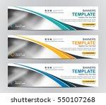 abstract web banner design...   Shutterstock .eps vector #550107268