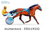 jockey and horse. champion.... | Shutterstock .eps vector #550119232