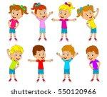 kids boys and girls are doing... | Shutterstock .eps vector #550120966