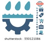 water gear drops icon with free ... | Shutterstock .eps vector #550121086