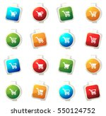 shopping bascket color icon for ... | Shutterstock .eps vector #550124752