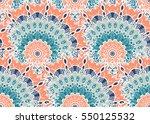 hand drawn mandala seamless...   Shutterstock .eps vector #550125532