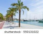 palma mallorca carrer del moll... | Shutterstock . vector #550131022