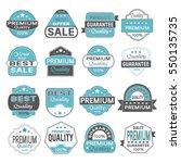 set of vintage labels for sale... | Shutterstock .eps vector #550135735