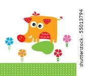 cute wild boar garden | Shutterstock .eps vector #55013794