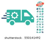 service car icon with free... | Shutterstock .eps vector #550141492
