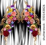 flowers leopard  background | Shutterstock . vector #550143826