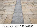 street tiled stone pavement as... | Shutterstock . vector #550144135